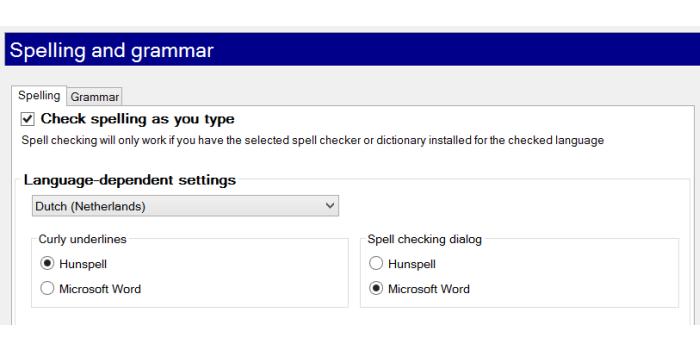 Sprawdzanie pisowni w memoQ 2014, ustawienia, konfiguracja